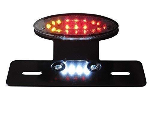 Universal Marca E LED Pare/Piloto Trasero con Intermitentes Integrados/Intermitentes, Lentes Ahumados y Soporte de Metal para Motocicletas Project a Medida