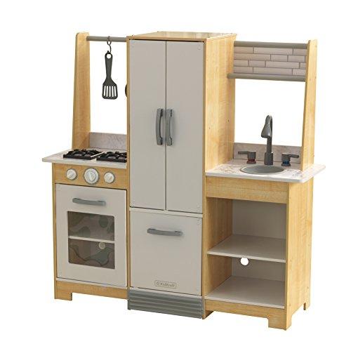 KidKraft 53423 Cucina giocattolo in legno per bambini Modern-Day con EZ Kraft Assembly con accessori di gioco inclusi