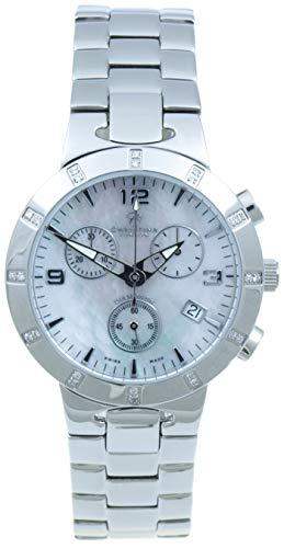 Christina London Damen Chronograph Quarz Uhr mit Edelstahl Armband 124SW