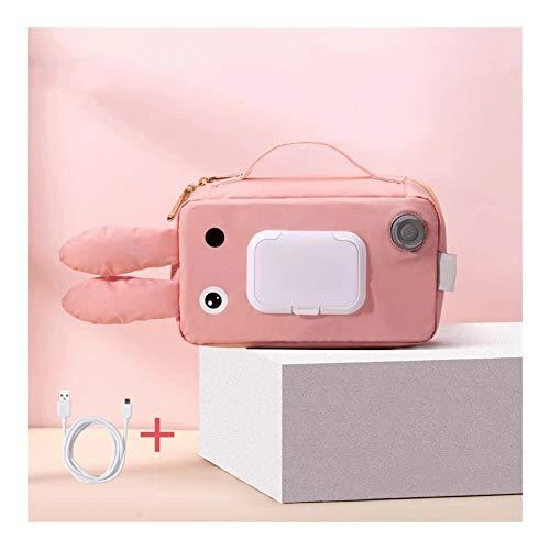 AJMINI Draagbare Baby Wipe Warmer Heater Wipes Dispenser - Slanke Luier Wipes Houder voor Jongens en Meisjes, (Rabbit)