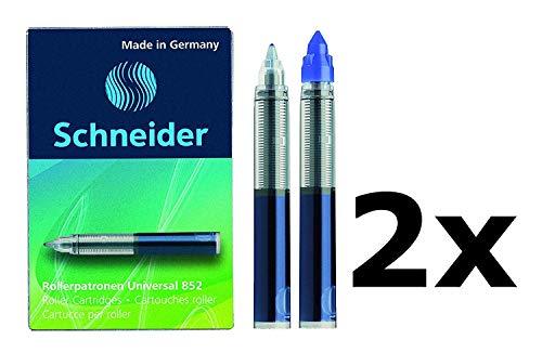 Schneider Rollerpatrone 852, M, königsblau, 5er Schachtel (10 Patronen (Königsblau))