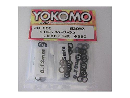 Yokomo ZC-S50 Stainless 5mm Spacer Shim, 0.13mm, 0.25mm, 0.50mm
