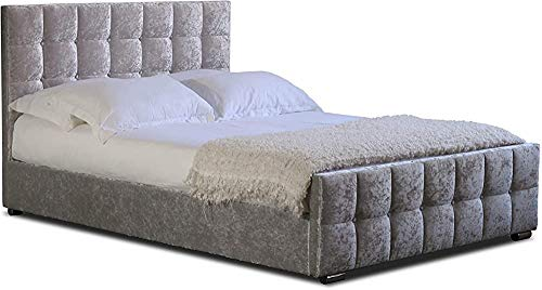 Bank of Cashmere Velvet upholstered Bed Frame,Double