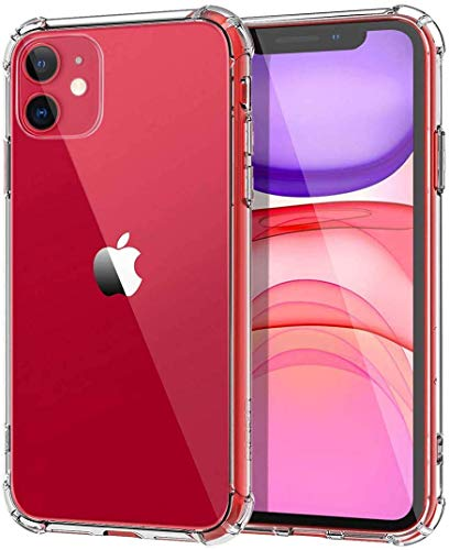 JGD PRODUCTS Shock Proof Protective Soft Back Case Cover for iPhone 11 (2019) (Transparent) [Bumper Corners with Air Cushion Technology]