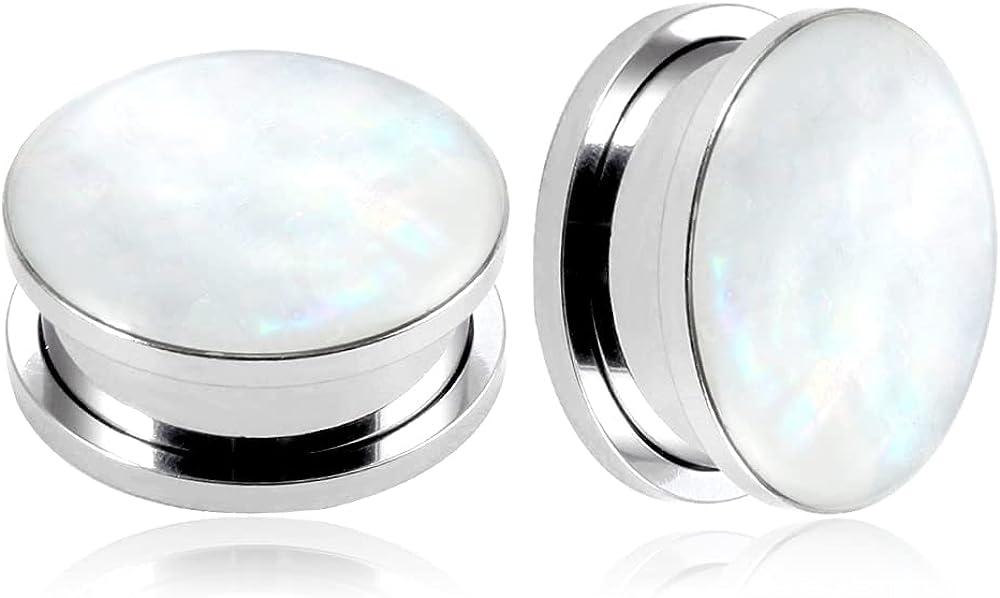 Casvort 2 PCS Fashion Ear Plugs Tunnels Conch Piercing Jewelry Ear Gauges Stretcher Pair Selling Body Ear Piercings