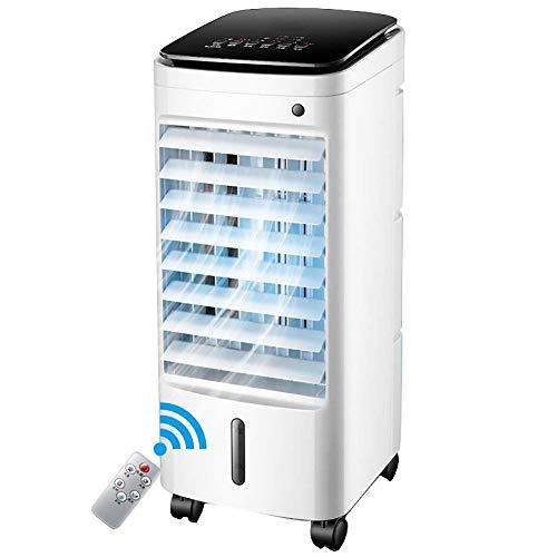 Air cooler Ventilador de aire acondicionado portátil, ventilador de aire acondicionado móvil Acondicionador de aire refrigerado por agua con deshumidificador enfriadores evaporativos en casa dormitori