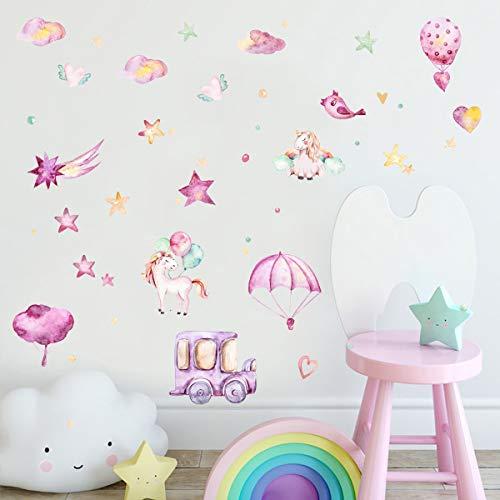 CBGGQ 6 Piezas Unicornio Pegatinas de Pared Decorativas Infantiles,...