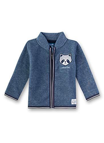 Sanetta Baby-Jungen Fleecejacket Jacke, Blau (Delft 502), 68 (Herstellergröße: 068)