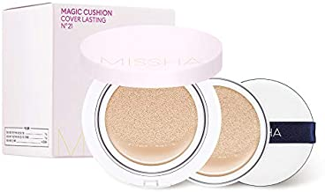Missha Magic Cushion Cover Lasting #21 (2-pack) - longlasting, high coverage, hydrating cushion foundation with excellent long lasting effect