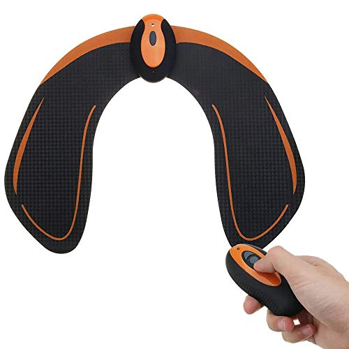 LIUXING Muskeltoner Abdominal Trainer USB aufladbare Intelligent Hip Trainer Buttocks Lifting Körper Schönheit Maschine (Farbe : Schwarz, Größe : Einheitsgröße)