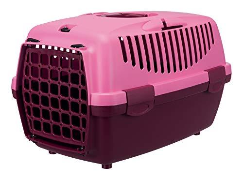 Trixie 39819 Transportbox Capri 1, XS: 32 × 31 × 48 cm, beere/pink