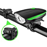 Carzex Rechargeable Bike/Cycle Super Bright Light & Horn with High/Low/Flashing Beam Function