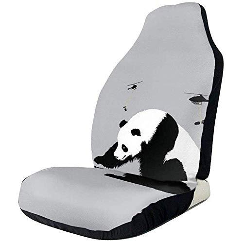 2 stuks autostoelhoezen volledige set - leuke cartoon panda gedrukt autostoelhoezen, autostoelhoezen passen de meeste personenauto's, vrachtwagens, SUV's of vans.