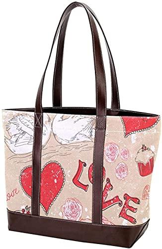 SpiceRack Umweltfreundliche Tasche für Mutter Frauen Mädchen Damen Student Hündchen Tier Tragetasche Handtaschen Umhängetaschen Leichte Riemen Geldbörse Einkaufen
