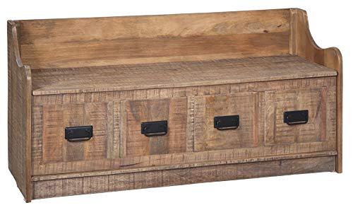 Signature Design by Ashley Garrettville Vintage Distressed Storage Bench, Brrown