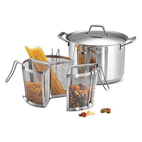 Tramontina Pasta Cooking Set Stainless Steel Tri-Ply Base 12 Qt, 80101/037DS