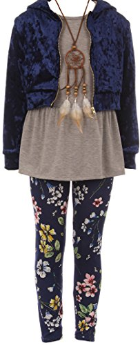 BNY Corner Big Girl 4 Pieces Jacket Tank Top Legging...
