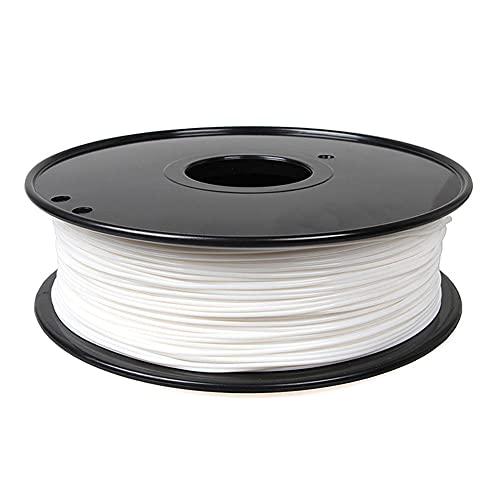 Nylon Filament 1.75mm 3D Printer PA Filament Accuracy +/- 0.03mm 1KG 2.2LBS Spool 3D Printing Filament for 3D Printers-White_1.75mm