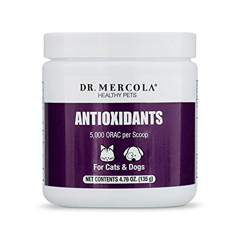 Dr. Mercola, Antioxidants, for Cats and Dogs, 4.76 oz, (135 g), with Japanese Knotweed, Acerola Fruit Extract, and Naturally Decaffeinated Green Tea Leaf Extract, non GMO, Soy-Free, Gluten Free