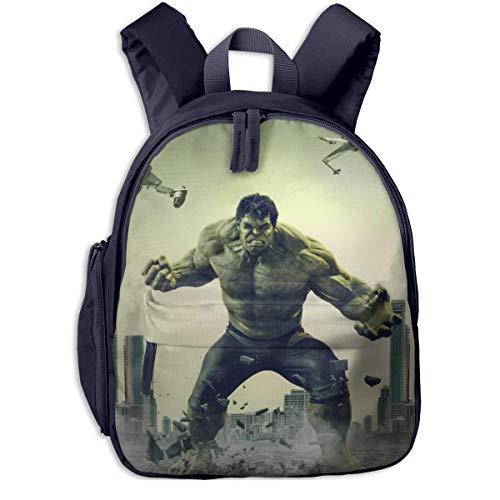 JKSA Hulk Movie Kinderrucksäcke Schultaschen für Jungen & Mädchen Vorschultasche Niedlicher Cartoon-Rucksack Größe für Kindergarten, Vorschule