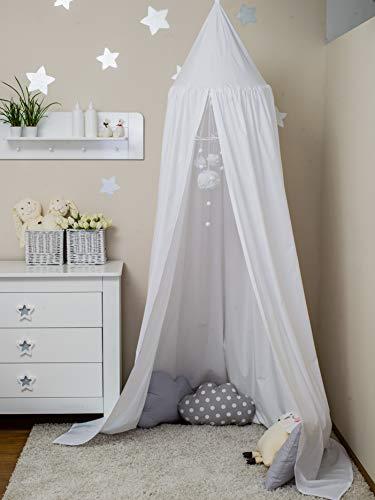 ComfortBaby ® Babybett-Himmel - Höhe: ca. 2,4 m (Weiß)