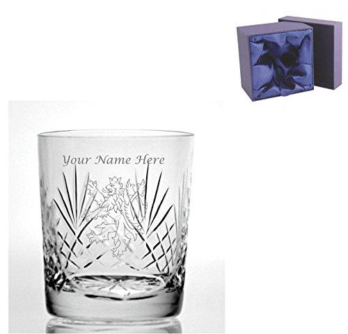 Personalizado grabado corte cristal 255 Whisky cristal con