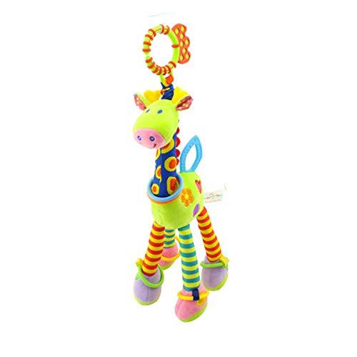 Poussette Siège d'auto Jouets - Enfants Lit de bébé Lit Pram Hanging Giraffe Toy Pendentif avec Clochette et Ringing Papier, Jouets Suspendus Cadeau pour Les bébés (Vert)