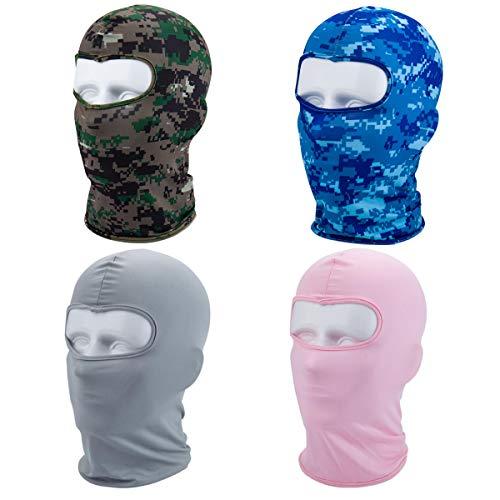 Zliger 4 Pedazo Pasamontañas Transpirable Balaclava Máscara Camuflaje Calentador de Cuello para Deportes Exteriores Ciclismo esquí Snowboard Surf Pasamontañas
