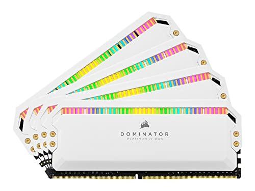 Kit di memoria desktop CORSAIR DOMINATOR PLATINUM RGB 32GB (4x8GB) DDR4 3200 (PC4-25600) C16 1.35V, Bianco