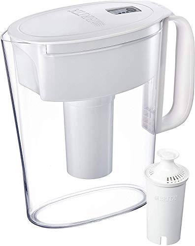 Brita Metro Pitcher with 1 Filter, BPA Free, 5 Cup, White