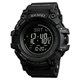 SKMEI 1358 3ATM Waterproof Smart Watch Outdoor Climbing Smart Bracelet Black