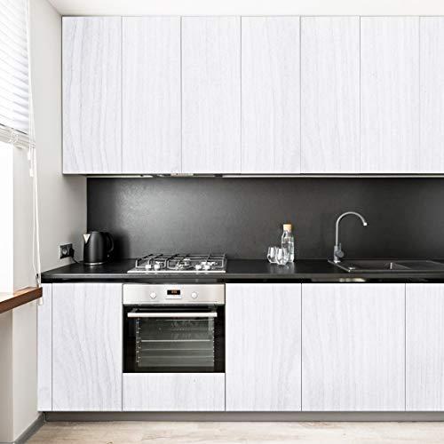 KINLO - Pellicola adesiva per mobili, impermeabile, in PVC, Plastica, Bianco B., 2 PCS