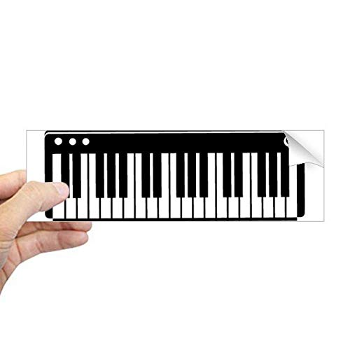 DIYthinker Elektrische Piano Muziek Vitaliteit Geluiden Rechthoek Bumper Sticker Notebook Window Decal