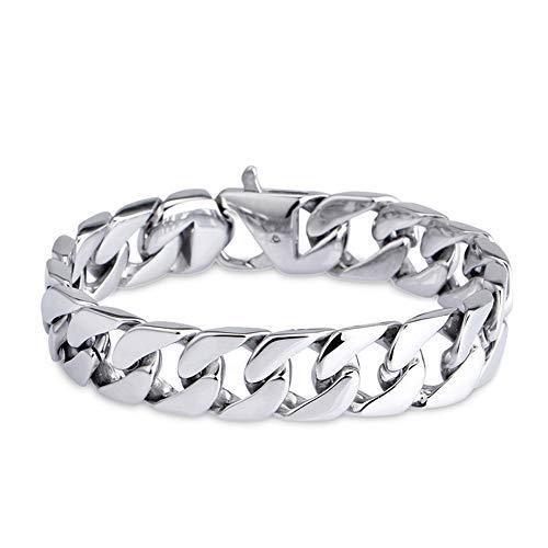 ZHHAOXINJE Minimalist Titan Stahl Armband, Titan Stahl Mode Armband Titan Stahl Herren Armband Schmuck, Jubiläen oder eine Überraschung für Männer Damen, Steel, 20cm