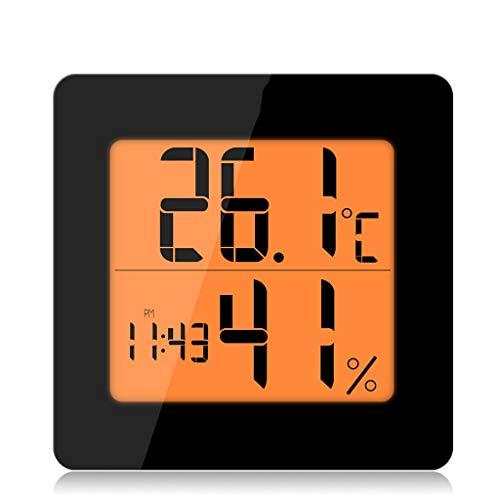 WPL Thermomètre Thermomètre Accueil réveil thermomètre électronique et hygromètre électronique Horloge d'intérieur thermomètre hygromètre Haute précision Higrómetro