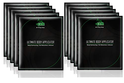10 PC EHM 45 Min Ultimate Body Wraps Applicator + 2 EHM Body Defining Gel (15ML) - it Really works to Tone Tighten Firm Detox PLUS Hydrate