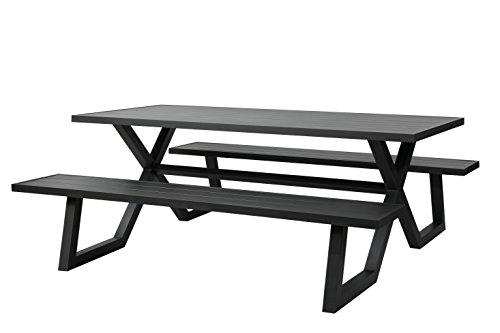 MaximaVida Picknicktisch Aludesign Dex 200 cm anthrazit, hergestellt aus Aluminium