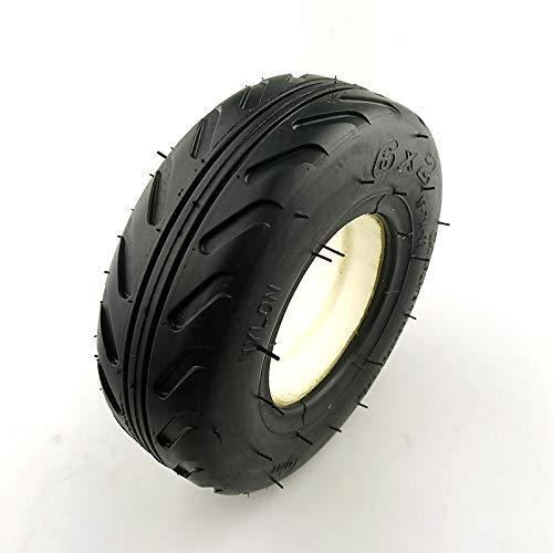 JYCTD Neumático sólido 6X2 sin neumático de Tubo Interior, Scooter eléctrico, Silla de Ruedas, Uso de camión, neumático de 6 ', Carro neumático F0