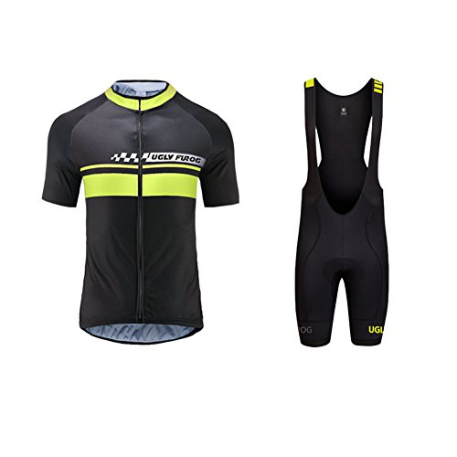 Uglyfrog 2018 Neue Radsport Anzüge Herren Short Trikots+Bib Kurze Hosen Gel Pad Summer Cycling Kit Triathlon Clothes 04