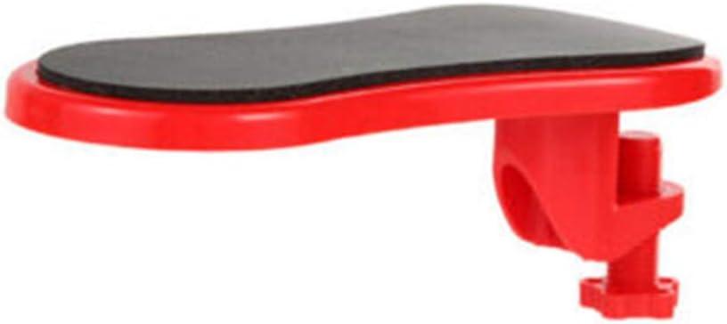 Milisten Computer Wrist Arm Rest Support Adjustable for Keyboard Armrest Extender Rotating Mouse Pad Holder Table Office Desk Laptop Red