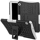 Skytar Funda para Huawei MediaPad T3 10,Hybrid Dura Layer Protección de Policarbonato Duro + TPU Silicona Protección Cover Carcasa para Huawei MediaPad T3 10 de 9,6 Pulgadas Tablet Funda,Blanco