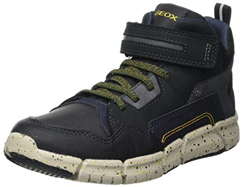 Geox J FLEXYPER BOY B ABX Snow Boot, Schwarz (Black/Military), 37 EU