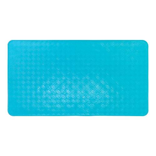 NOVELOVE Badezimmer Anti-Skid-pad Moderne Einfache Windgeometrie Gummischwanz Haustür-pad Carpet 40 * 70cm azurblau