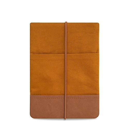 """Kuratist 6 Zoll eBook Reader Hülle Uni Curry - kompatibel mit 6"""" eReadern - Handgemacht aus Baumwolle und Papierleder (100% vegan) (auch geeignet für Tolino Shine 2/3 HD/Vision 2/3/4 HD)"""