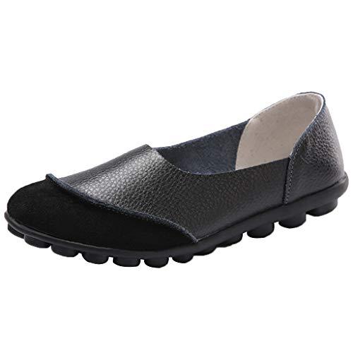 Vovotrade Dames Mocassin Bootschoenen Leer Loafers rijden Geschikt voor zomer, comfortabel en stijlvol effen kleur