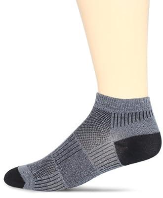 WrightSock Men's Coolmesh II Lo Single Pack Socks, Grey, X-Sock Size:10-13/Shoe Size: 6-12