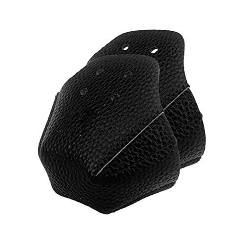 BSMEAN Schutzhülle für Rollschuhkopf, Roller Skate Toe Guards PU Leder Zehenschutz Rollschuhe Zehenschutzkappen Protektoren Verschleißfeste Zehenschutz für Rollschuhe