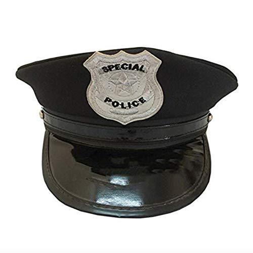 thematys® Polizei Polizist Swat FBI Mütze Hut in schwarz - Police Cap Cappy Kappe Damen Herren Erwachsene perfekt für Karneval, Halloween, Stripper, Mottoparty, Junggesellenabschied, Party & Cosplay