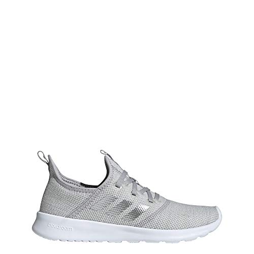 adidas Women's Cloudfoam Pure Track and Field Shoe, Matte Silver/Grey, 10 Standard US