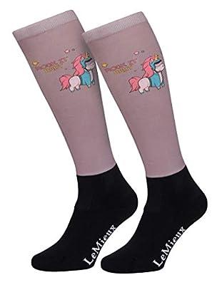 LeMieux Footsies Calcetines para adultos, diseño de unicornio